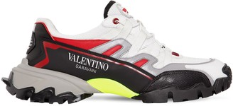 Valentino Climbers Leather Low Top Sneakers