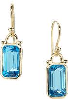 Elizabeth Showers Deco Emerald-Cut Topaz Earrings in 18k Gold