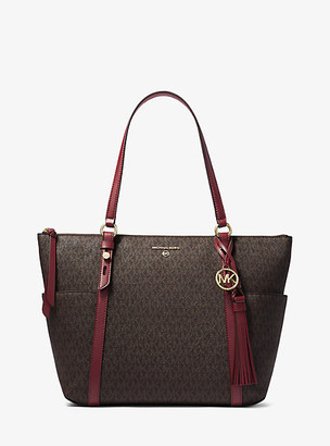 Michael Kors Nomad Large Logo Top-Zip Tote Bag