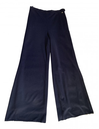 Chanel Blue Wool Trousers