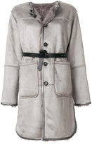 Urban Code Urbancode faux fur lined belted coat