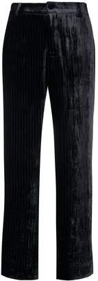 F.R.S For Restless Sleepers velvet pinstripe trousers