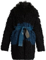Fendi Fur-collar loop-knit cardigan