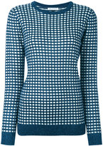 Bella Freud sparkle gingham jumper - women - Rayon/Wool/Metallic Fibre - L
