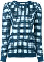 Bella Freud sparkle gingham jumper - women - Rayon/Wool/Metallic Fibre - M