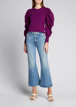 Ulla Johnson Marin Wool Sweater w/ Gathered Sleeves
