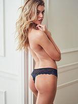 Very Sexy Plaid Lace-trim Thong Panty