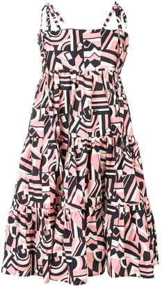 La DoubleJ Geometric Print Flared Dress