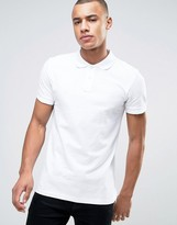 Esprit Slim Fit Basic Pique Polo Shirt in White