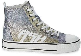 Ash Glover High-Top Glitter Sneakers