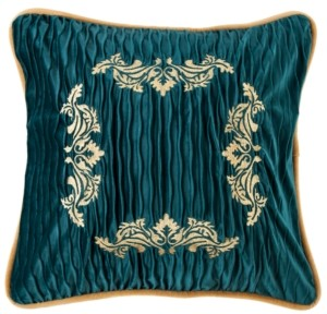 HiEnd Accents Velvet Embroidery 18x18 Pillow