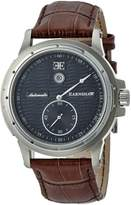 Thomas Earnshaw Men's 'ASHTON' Automatic Stainless Steel and Leather Casual Watch, Color:Brown (Model: ES-8045-01)