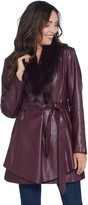 G.I.L.I. Got It Love It G.I.L.I. Faux Leather Jacket with Removable Faux Fur Collar