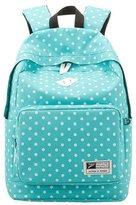 SODIAL(R) Women Backpack Rucksack Laptop Bag Schoolbag Student Travel Dots Blue