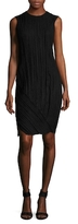 Narciso Rodriguez Wool Plisse Sheath Dress