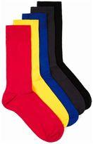 Topman Assorted Colour Plain Socks 5 Pack