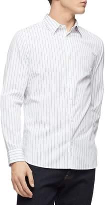Calvin Klein Long Sleeve Stripe Button-Down Shirt