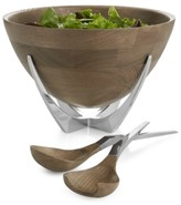 Nambe Cabo Collection Salad Bowl with Servers