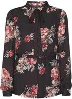 Vila **Vila Black Rose Long Sleeve Shirt