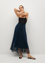 Thumbnail for your product : MANGO Metallic pleated skirt