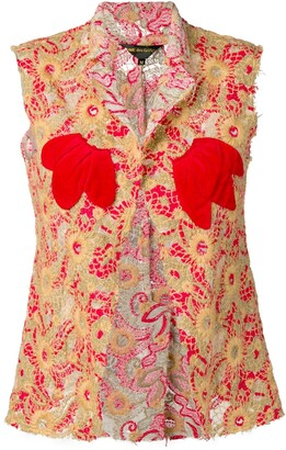 Comme Des Garçons Pre Owned 2003's Embroidered Waistcoat