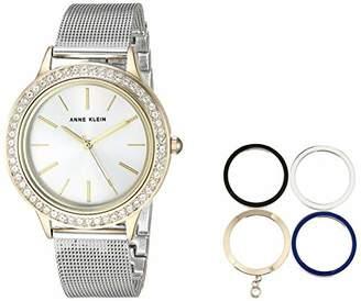 Anne Klein Women's AK/3167TTST Two-Tone Bracelet Watch and Interchangeable Bezel Set