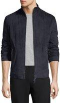 Armani Collezioni Suede Zip-Front Jacket w/ Microfiber Back
