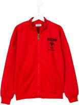 Moschino Kids zip front sweatshirt