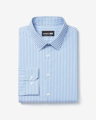 Express Extra Slim Striped Stretch Cotton 1Mx Dress Shirt