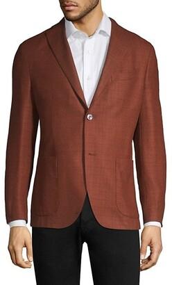 Boglioli Rustic Wool-Blend Boucle Jacket