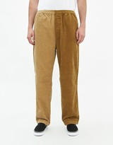 Stussy Men's Mix Up Cord Beach Pant in Brown, Size Medium | 100% Cotton