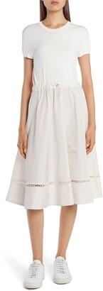 Moncler Short Sleeve A-Line Midi Dress