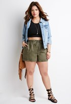 Forever 21 Plus Size Drawstring Cuffed Shorts