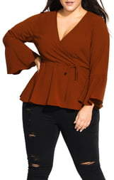 City Chic Sweetly Tied Top