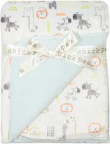 Cutie Pie Baby Blue Mink Sherpa-Backed Stroller Blanket