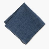 J.Crew The Hill-side® Japanese selvedge chambray pocket square