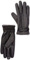 Amicale Houndstooth Snap Cuff Gloves