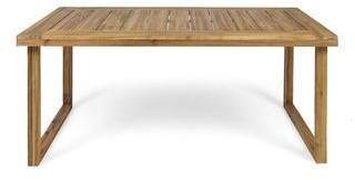 "Christopher Knight Home Nestor Outdoor 69"" Acacia Wood Dining Table"
