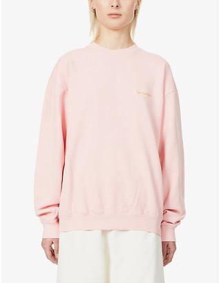 Sporty & Rich Logo-embroidered cotton-jersey sweatshirt
