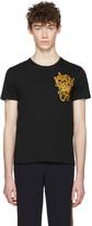 Alexander McQueen Black Embroidered Skulls T-Shirt