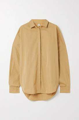 Totême Lago Cotton-poplin Shirt - Brown