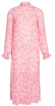 Ganni Pleated Georgette long dress