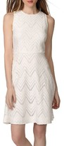 Donna Morgan Women's Chevron Lace Fit & Flare Dress
