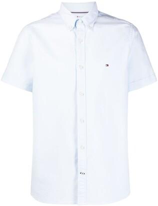 Tommy Hilfiger Logo-Embroidered Short Sleeved Shirt