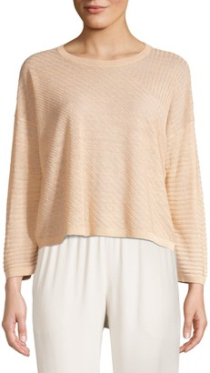 Eileen Fisher Fine Ribbed Organic Linen Sweater