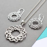 Celtic Martha Jackson Sterling Silver Silver Love Knot Jewellery Set