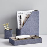 Chambray Desk Accessories, Set Of 3