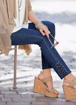 Together Lattice Hem Slim Fit Jeans