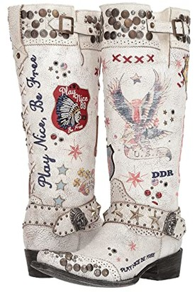 Old Gringo Double D Ranchwear By Double D Ranchwear by Liberty Justice (Crackled Taupe) Cowboy Boots
