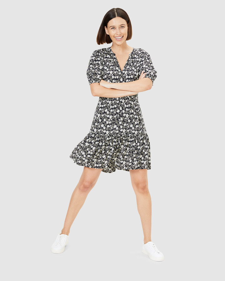 French Connection Women's Dresses - Lily Floral Tea Dress - Size One Size, 10 at The Iconic